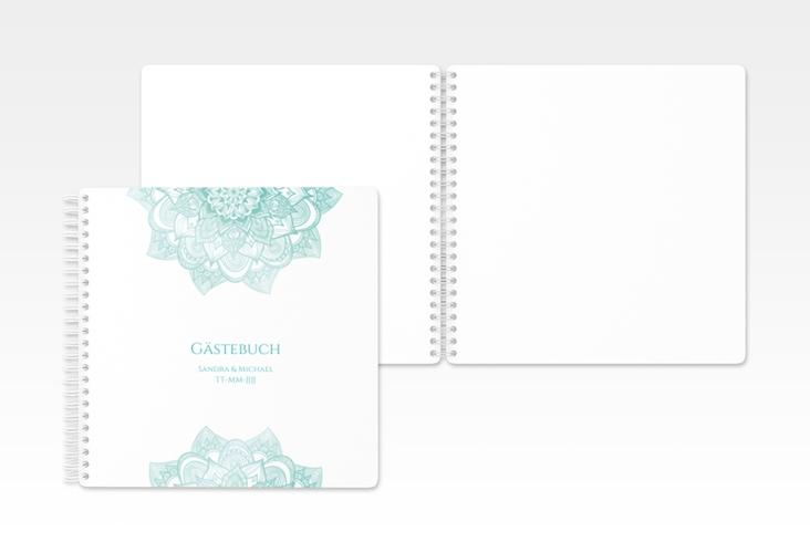 """Gästebuch Hochzeit """"Delight"""" Ringbindung mint"""