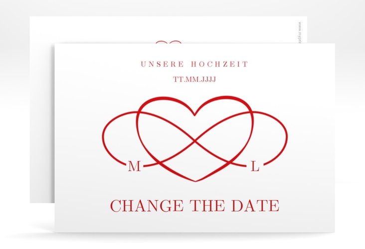"""Change the Date-Karte """"Infinity"""" A6 quer rot"""