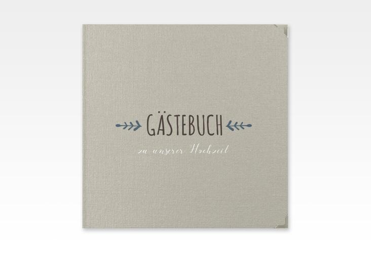 """Gästebuch Selection Hochzeit """"Eden"""" Leinen-Hardcover blau"""