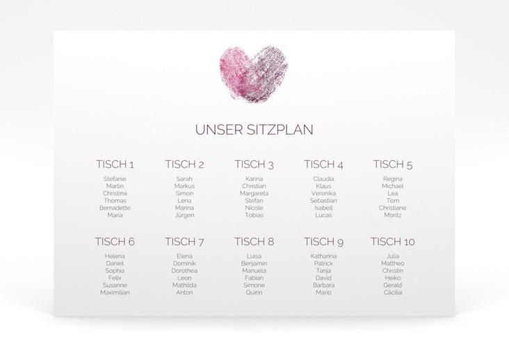 "Sitzplan Poster Hochzeit ""Fingerprint"" 70 x 50 cm Poster"