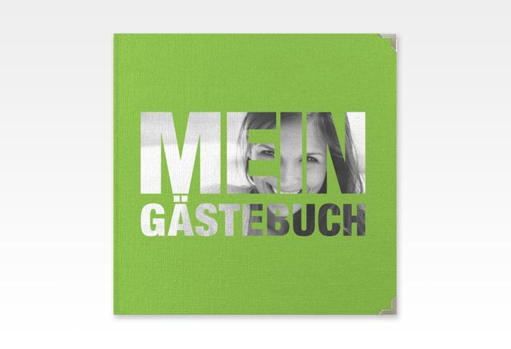 "Gästebuch Selection Geburtstag ""Numbers"" Leinen-Hardcover gruen"