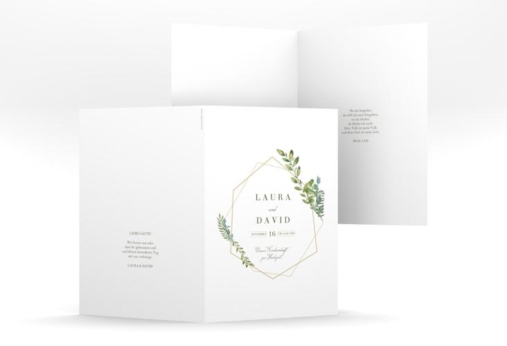 """Kirchenheft Hochzeit """"Herbarium"""" DIN A5 geklappt"""