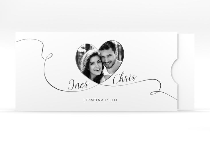 """Hochzeitseinladung """"Dolce"""" Einsteckkarte weiss"""