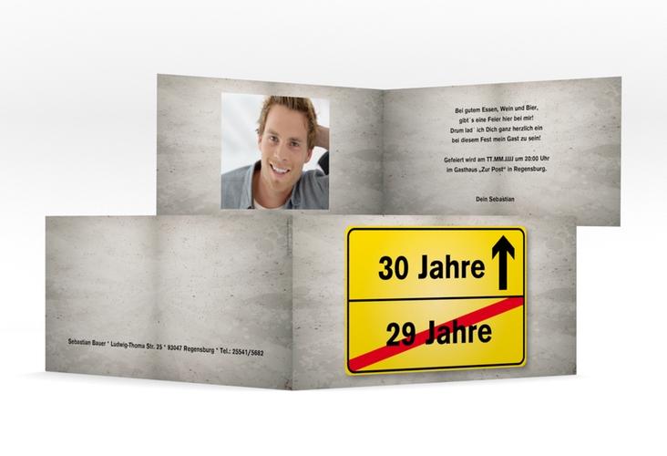 "Einladungskarte ""Julian/Juliane"" DIN lang Klappkarte"