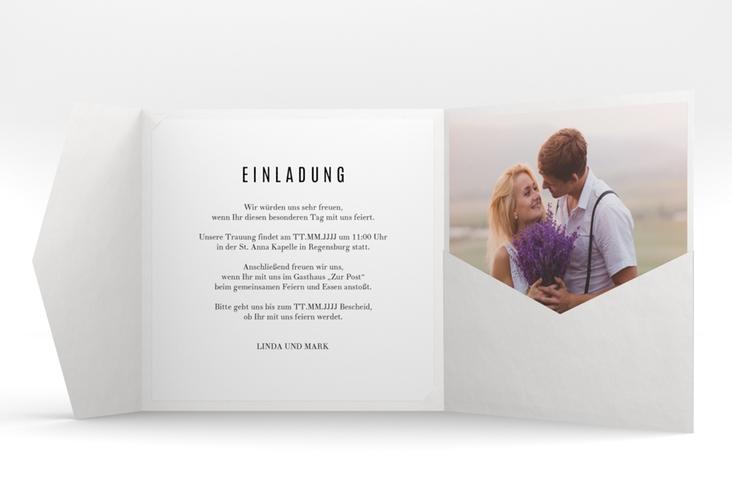 """Hochzeitseinladung """"Rings"""" Pocketfold"""