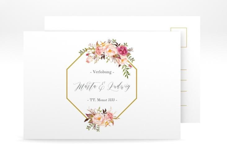 """Verlobungskarte Hochzeit  """"Prachtvoll"""" A6 Postkarte"""