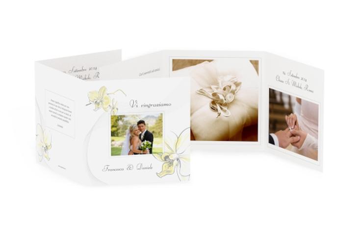 Ringraziamenti matrimonio collezione Modena Quadr. Karte doppelt