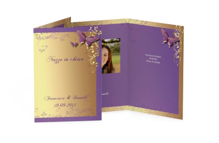 Libro messa matrimonio collezione Tolosa DIN A5 geklappt lila