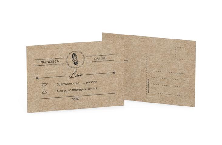 Biglietti risposta matrimonio collezione Colorado A6 Postkarte