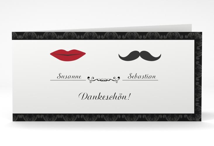 """Danksagungskarte Hochzeit """"Montpellier"""" DIN lang Klappkarte"""