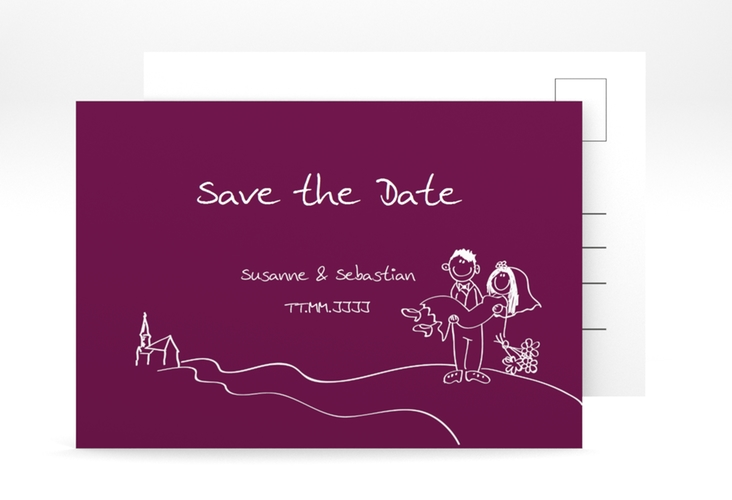 "Save the Date-Postkarte ""Pisa"" A6 Postkarte"