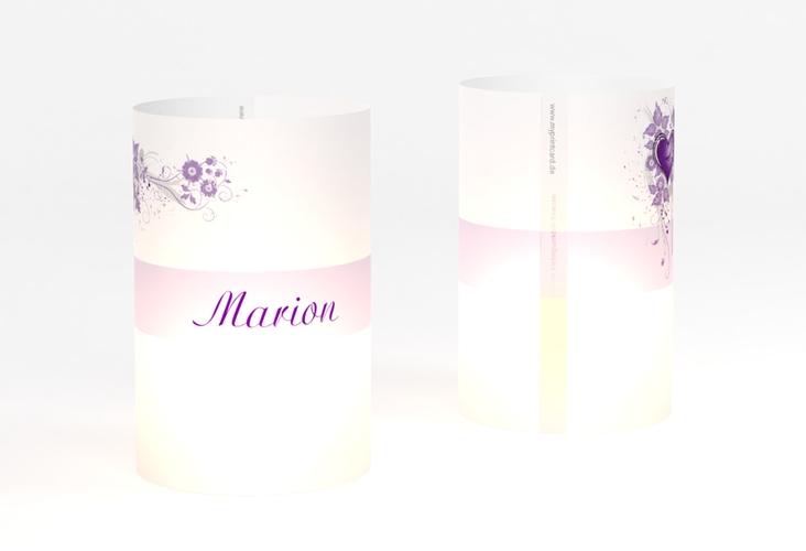 """Windlicht Hochzeit """"Triest"""" Windlicht lila"""