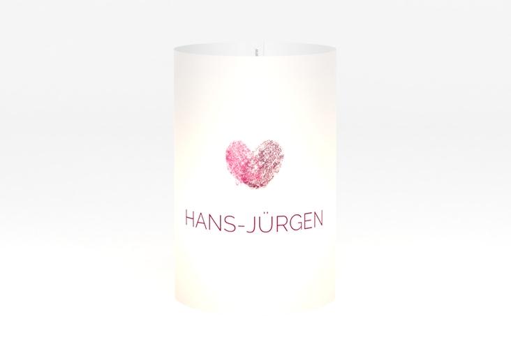 """Windlicht Hochzeit """"Fingerprint"""" Windlicht pink"""