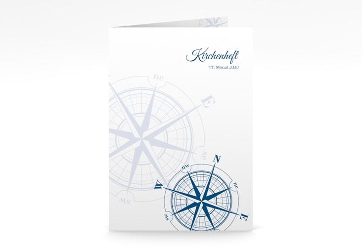 """Kirchenheft Hochzeit """"Windrose"""" DIN A5 geklappt"""