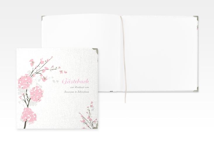 """Gästebuch Selection Hochzeit """"Salerno"""" Leinen-Hardcover rosa"""