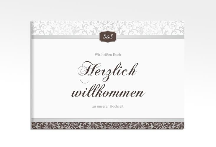 "Willkommensschild Leinwand ""Latina"" 70 x 50 cm Leinwand braun"