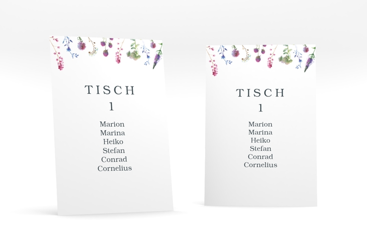 """Tischaufsteller Hochzeit """"Wildblumen"""" Tischaufsteller"""