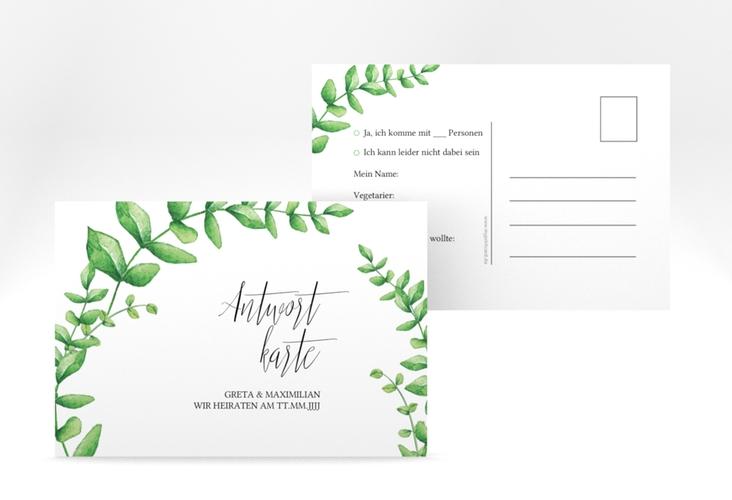 "Antwortkarte Hochzeit ""Botanic"" A6 Postkarte"