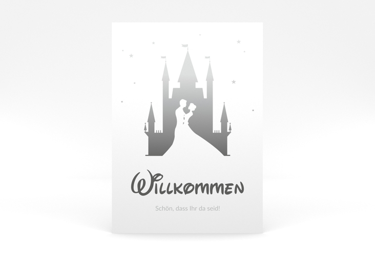 """Willkommensschild Poster """"Castle"""" 50 x 70 cm Poster grau"""