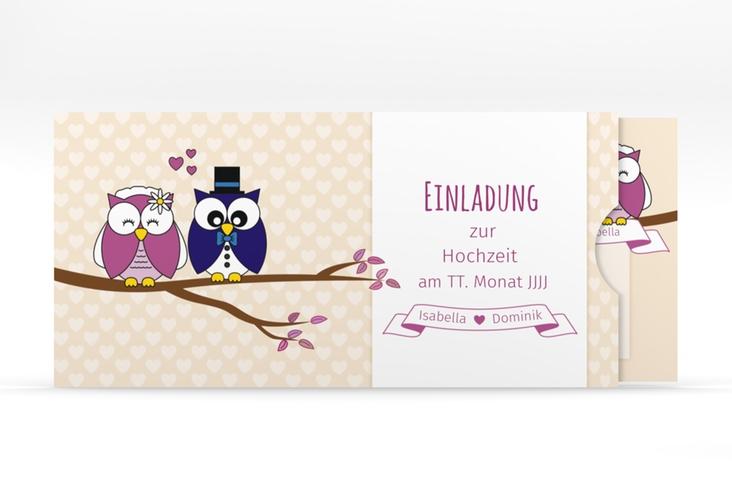 """Hochzeitseinladung """"Eulenliebe"""" Einsteckkarte"""