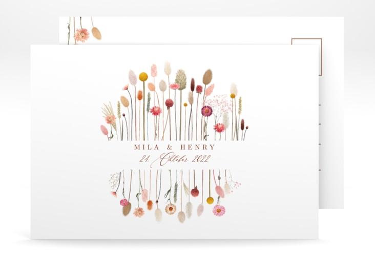"""Save the Date-Postkarte """"Driedflower"""" A6 Postkarte"""