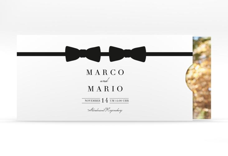 """Hochzeitseinladung """"Suits"""" Einsteckkarte"""