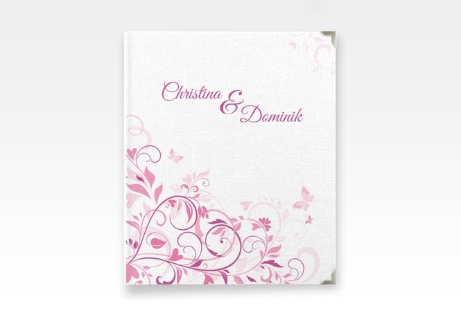 """Hochzeitsalbum """"Lilly"""" 21 x 25 cm pink"""