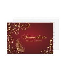 """Antwortkarte Hochzeit """"Eternity"""""""