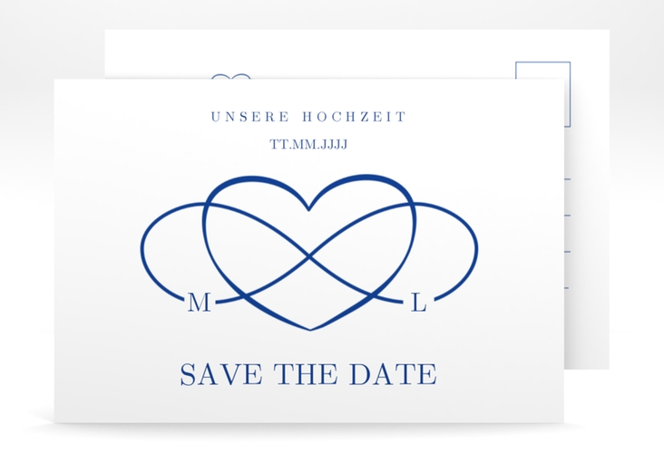 "Save the Date-Postkarte ""Infinity"" A6 Postkarte"