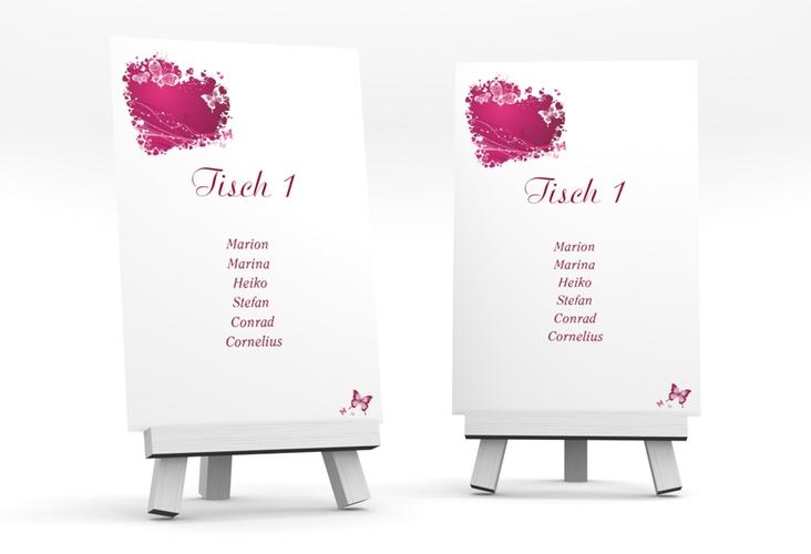 """Tischaufsteller Hochzeit """"Mailand"""" Tischaufsteller pink"""