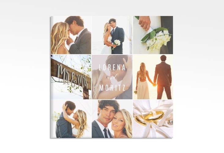 """Hochzeitscollage Leinwand """"Memory"""" 30 x 30 cm Leinwand grau"""