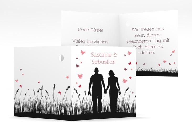 """Geschenkanhänger Hochzeit """"Rouen"""" Geschenkanhänger 10er Set schwarz"""