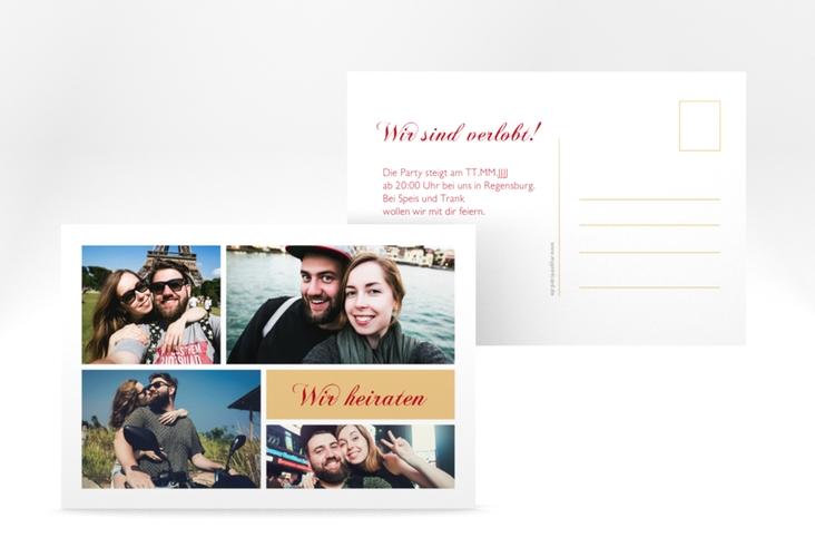 """Verlobungskarte """"Collage"""" A6 Postkarte"""