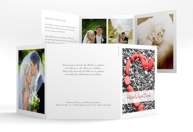 "Dankeskarte Hochzeit ""Bilbao"" Quadr. Karte doppelt"