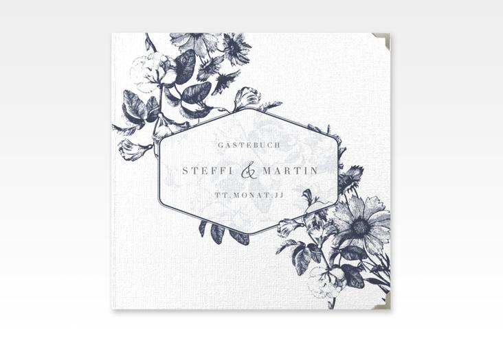 """Gästebuch Selection Hochzeit """"Magnificent"""" Leinen-Hardcover blau"""