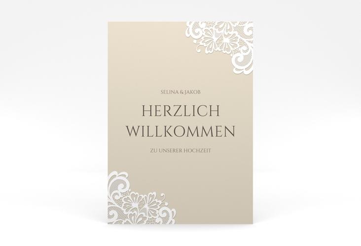 """Willkommensschild Poster """"Vintage"""" 50 x 70 cm Poster beige"""
