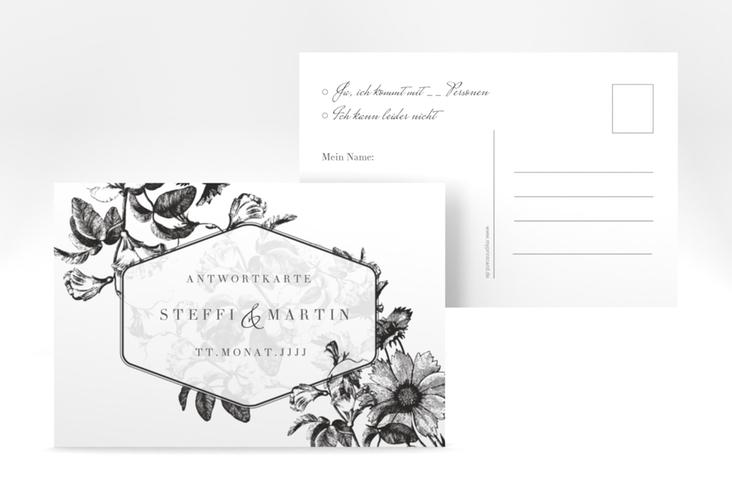 """Antwortkarte Hochzeit """"Magnificent"""" A6 Postkarte schwarz"""