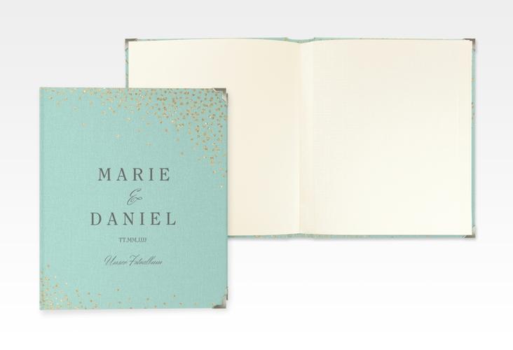 """Hochzeitsalbum """"Glitter"""" 21 x 25 cm mint"""