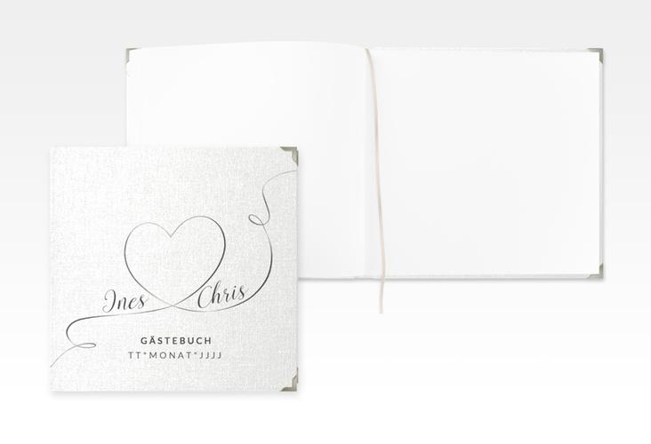 "Gästebuch Selection Hochzeit ""Dolce"" Leinen-Hardcover weiss"