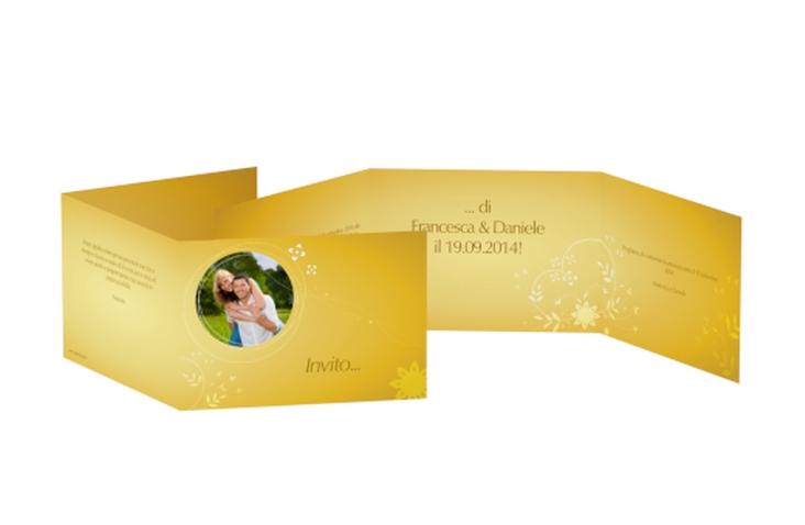 Inviti matrimonio collezione Siena A6 doppelt geklappt oro