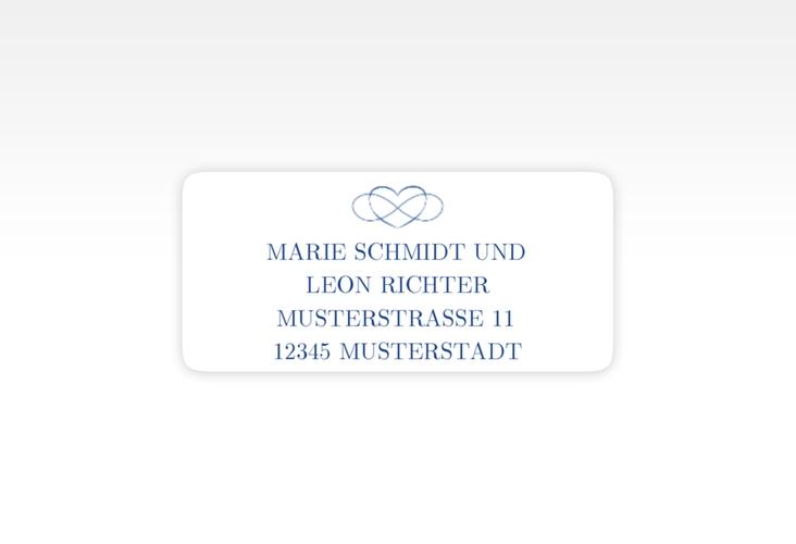 """Absenderetikett Hochzeit """"Infinity"""" 45,7 x 21,2 mm"""