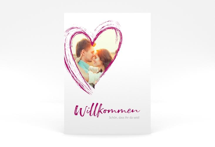 """Willkommensschild Poster """"Liebe"""" 50 x 70 cm Poster pink"""