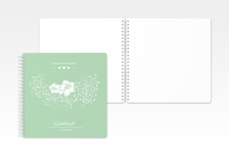 "Gästebuch Hochzeit ""Jena"" Ringbindung mint"