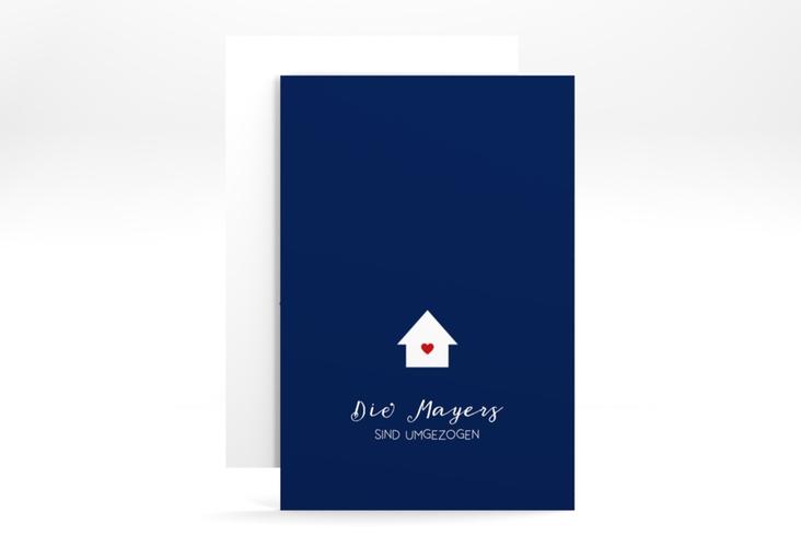 "Party Einladung ""Heimat"" A6 hoch blau"