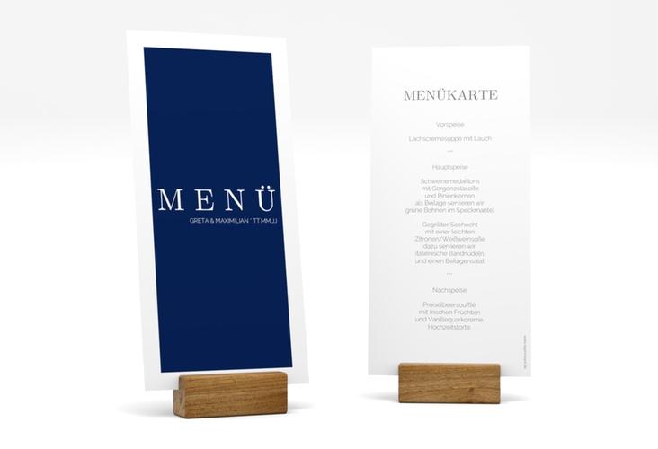 "Menükarte Hochzeit ""Simply"" DIN lang hoch"