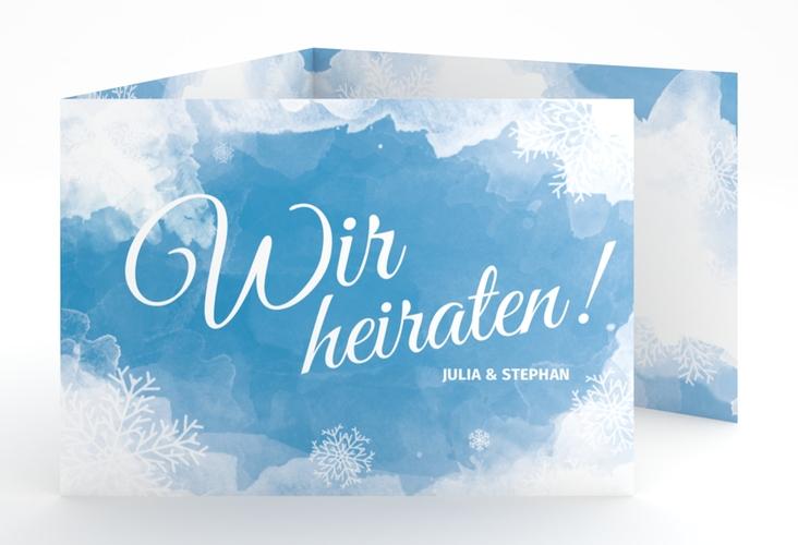 """Hochzeitseinladung """"Frozen"""" A6 doppelt geklappt"""