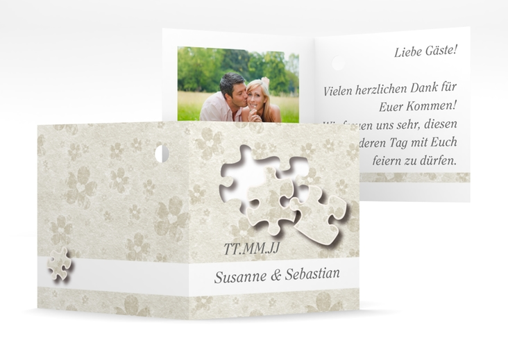 """Geschenkanhänger Hochzeit """"Ravensburg"""" Geschenkanhänger 10er Set grau"""