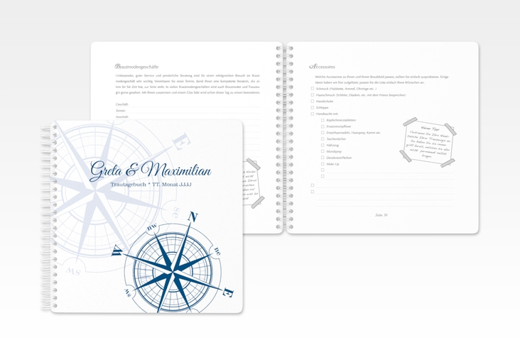 """Trautagebuch Hochzeit """"Windrose"""" Trautagebuch Hochzeit"""