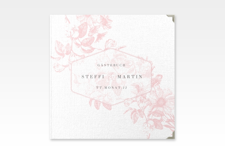 "Gästebuch Selection Hochzeit ""Magnificent"" Leinen-Hardcover rosa"