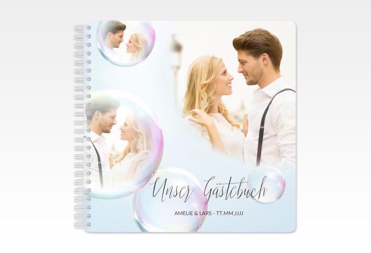 """Gästebuch Hochzeit """"Dreams"""" Ringbindung weiss"""
